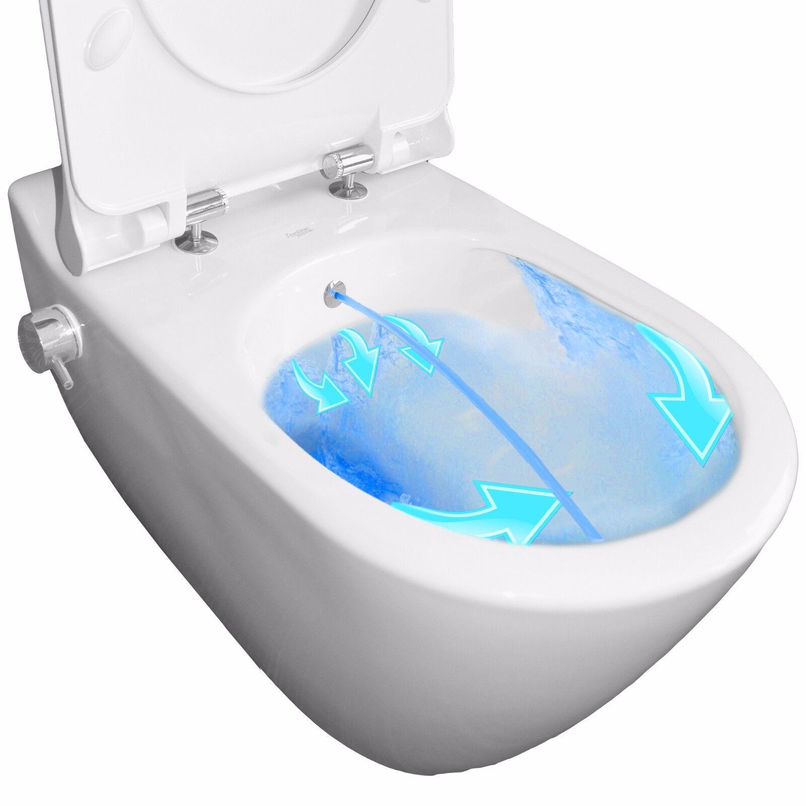 Dusch WC spülrandlos Mineral Bidet no rim less Taharet Toilette Klo Taharat M1