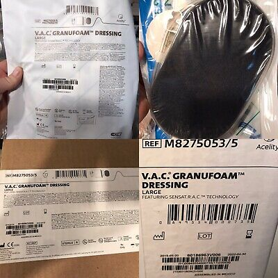 5 1 Kci Granufoam Dressing Large Vac Therapy Sensat.r.a.c. M8275053 Were Sealed