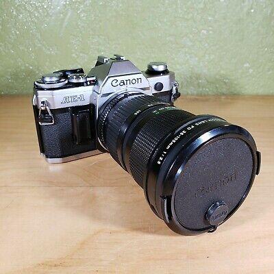 Canon AE-1 Program SLR Film Camera + FD 35-105mm f3.5 & 72mm UV Promaster Filter