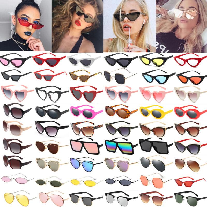 Vintage Sonnenbrille Brille Herren Damen Eyewear Retro Brille Hippie Verspiegelt