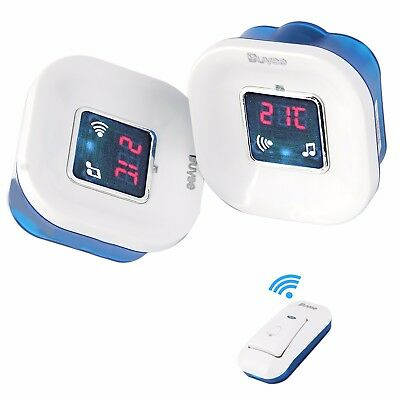 120M Twin Plug in Wireless Cordless Digital Door Bell Chime Doorbell 36 Melodies