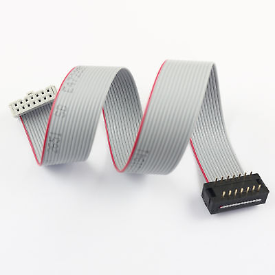 2pcs Idc Male 14 Pin Connector To Idc Female 14 Pin Flat Ribbon Cable L 30cm