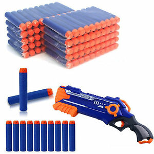 100/500 GUN SOFT REFILL BULLETS DARTS ROUND HEAD ELITE BLASTERS NERF  N-STRIKE
