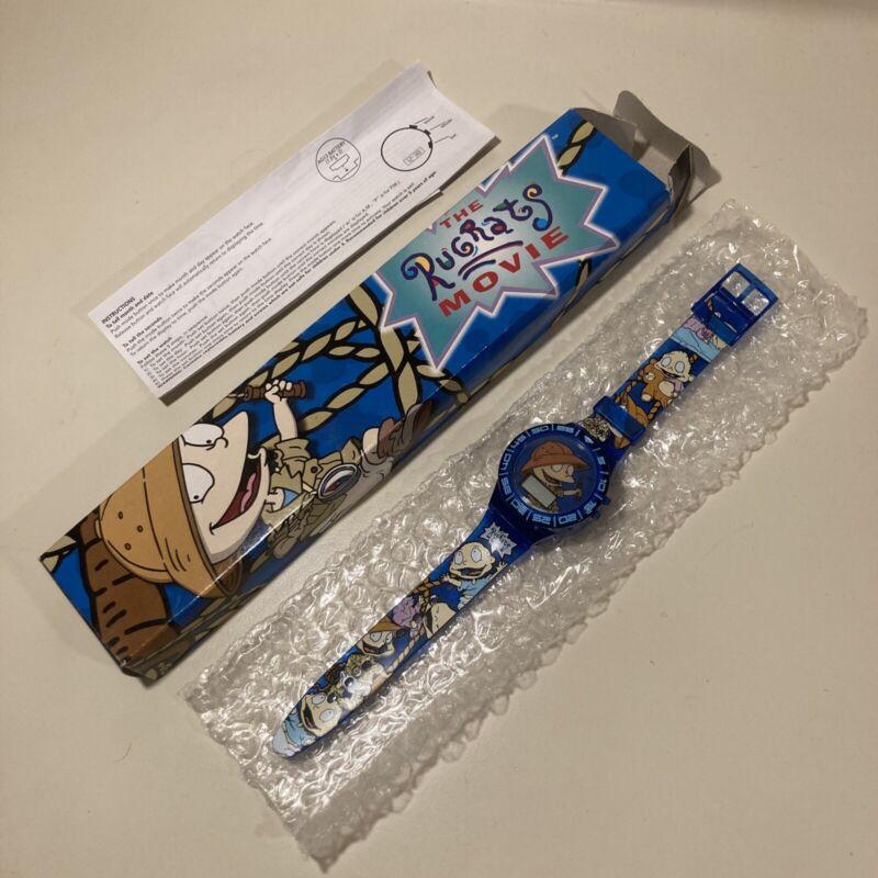 Vintage 1998 Burger King Prize Rugrats The Movie Tommy Digital Blue Watch