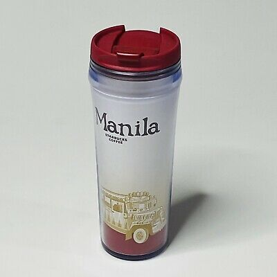 Starbucks Manila Coffee Tumbler Mug Cup Travel 2008 New