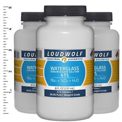 Sodium Silicate 1.5 Lb Total 3 Bottles Reagent Grade 41 Solution Usa Seller