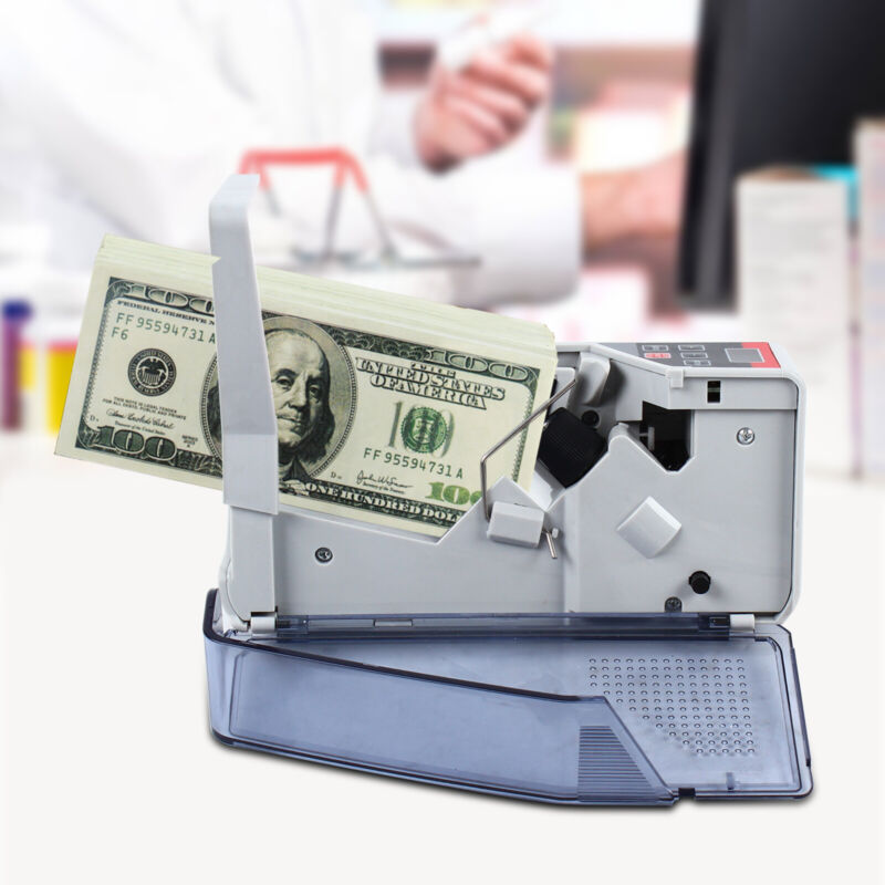 Mini Bill Cash Banknote Counter Portable Money Currency Counting Machine