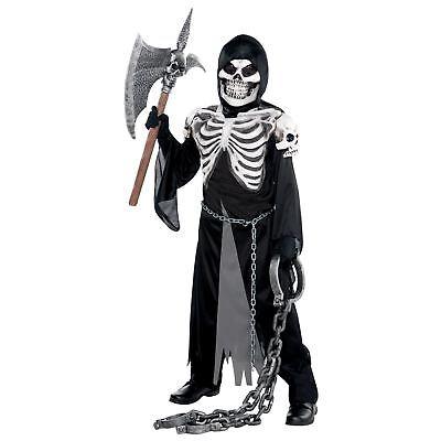 Boys Kid Teen Grim Reaper Skull Skeleton Demon - Halloween Kostüme Teen Boys