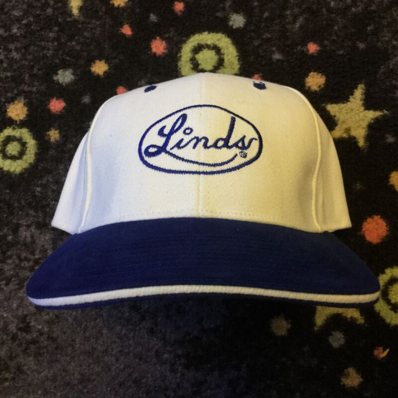 White/Blue Linds Baseball Cap