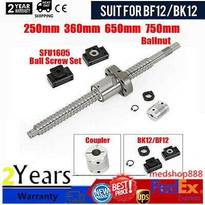 Sfu1605 Antibacklash Ball Screw L250mm-750mm Bk12 Bf12 6.35x10mm Coupler Set
