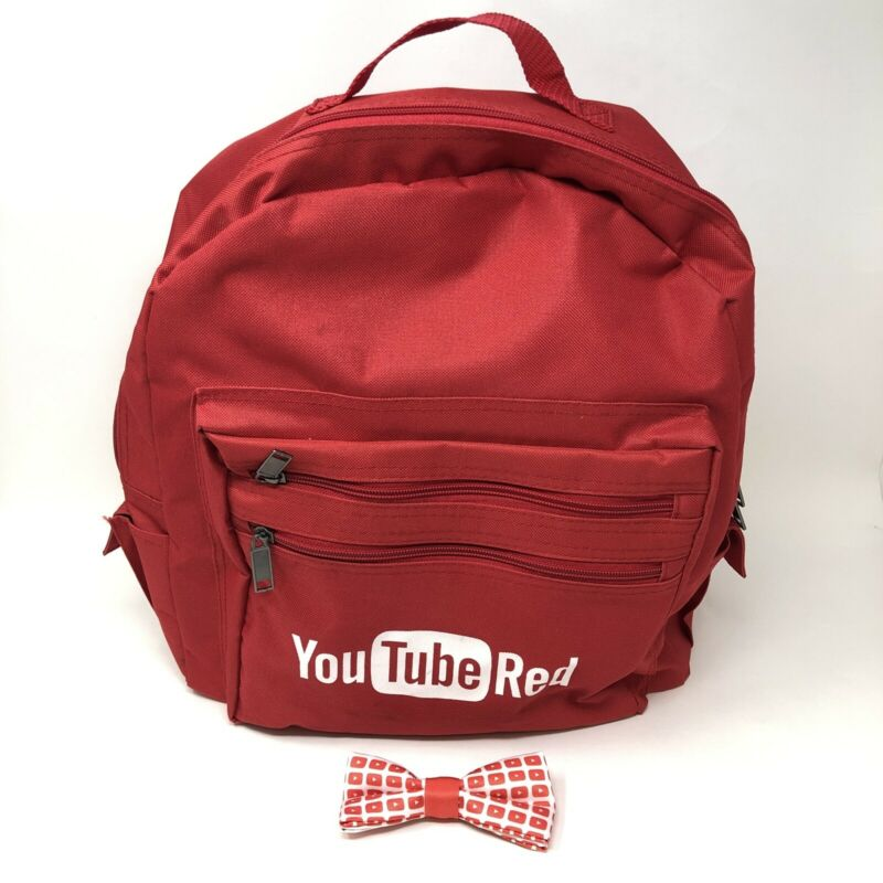 YouTube Red Backpack And Bowtie - Vidcon Collectibles