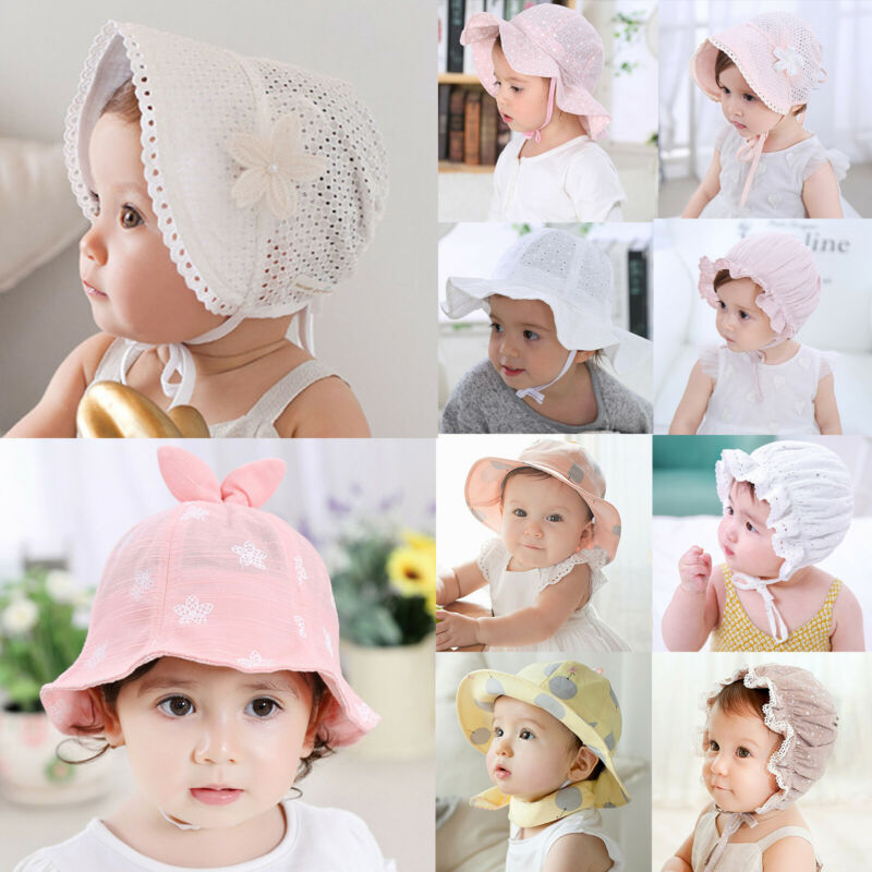 Newborn Baby Girls Summer Hats Bonnet Bucket Hat Children To