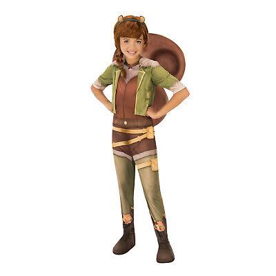 Animal Halloween Costumes For Girls (Girls Marvel Squirrel Girl Animal Halloween Costume Jumpsuit Headband Tail S M)