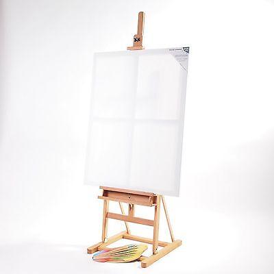 PROFI ATELIERSTAFFELEI | braun, 248x55x50 cm, Buchenholz | Studiostaffelei