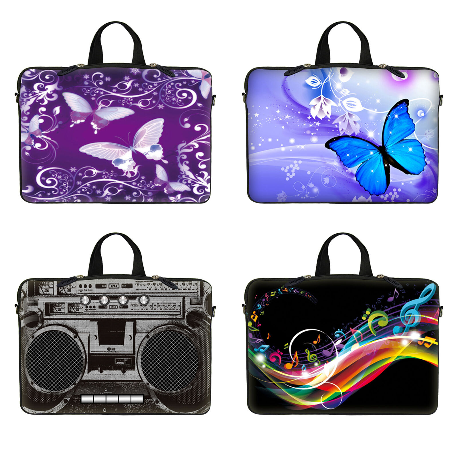 """10"""" to 17.3"""" Laptop Notebook Sleeve Bag w Hidden Handle For"""