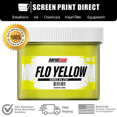 Fluorescent Yellow - Screen Printing Plastisol Ink - Low Temp Cure - 8oz