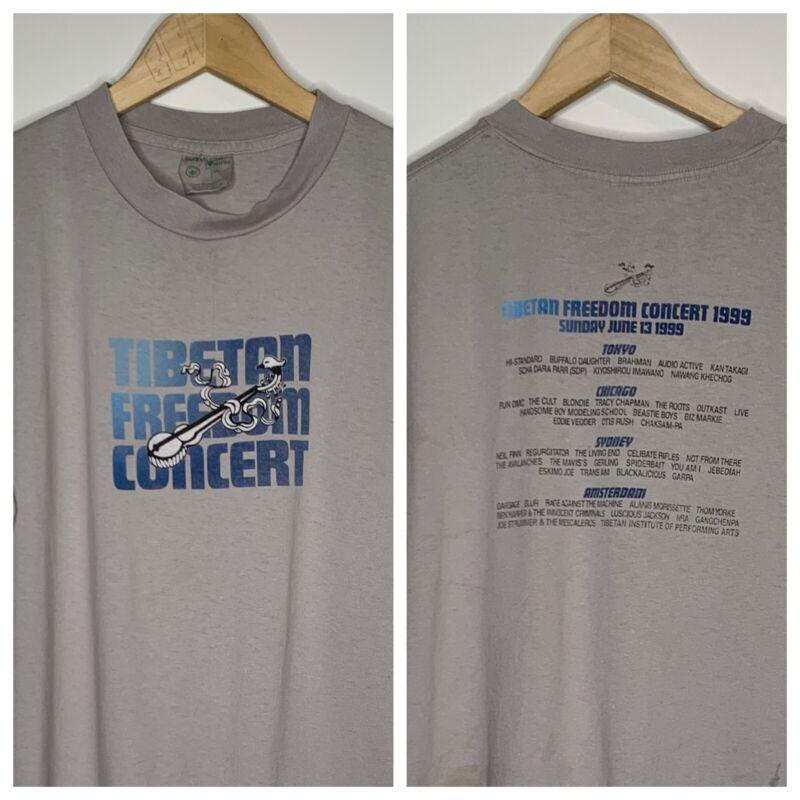VTG Tibetan Freedom Concert '99 T-Shirt Beastie Boys Outkast Run DMC Roots XL