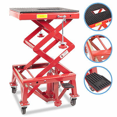 HYDRAULIC 300LB MOTOR CYCLE QUAD BIKE REPAIR SERVICE WORKSHOP SCISSOR LIFT JACK