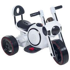 Lil Rider Sleek LED Space Traveler Battery Operated Motorcycle Trike White
