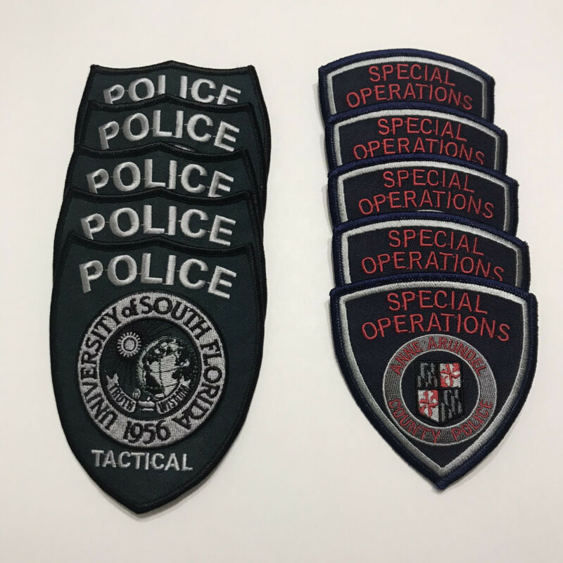 Lot Of 10 SWAT Team Police Patches - USF Tactical & AAC Special Ops