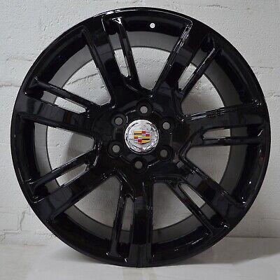 Set of 4 Wheels 22 inch Gloss Black Rims fits Cadillac Escalade EXT 2011