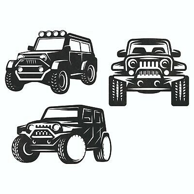 Jeep Car Pack Dxf Sign Plasma Laser Waterjet Router Plotter Cut Vector Cnc