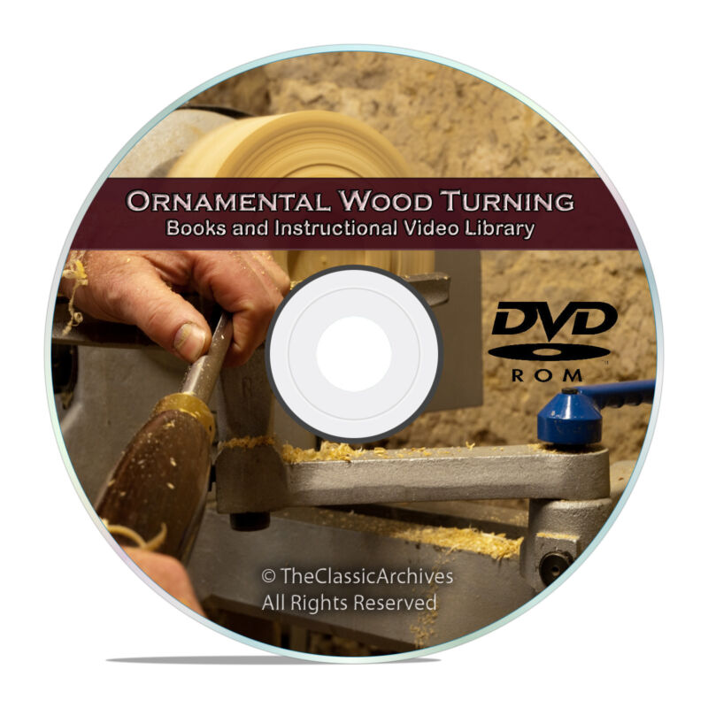 Ultimate Library of Wood Turning, Woodworking Lathe, 38 Books and Videos, V62