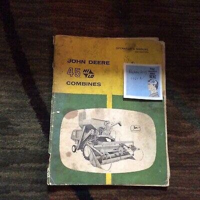 John Deere 45 Hi Lo Combine Operators Manual Omh90786