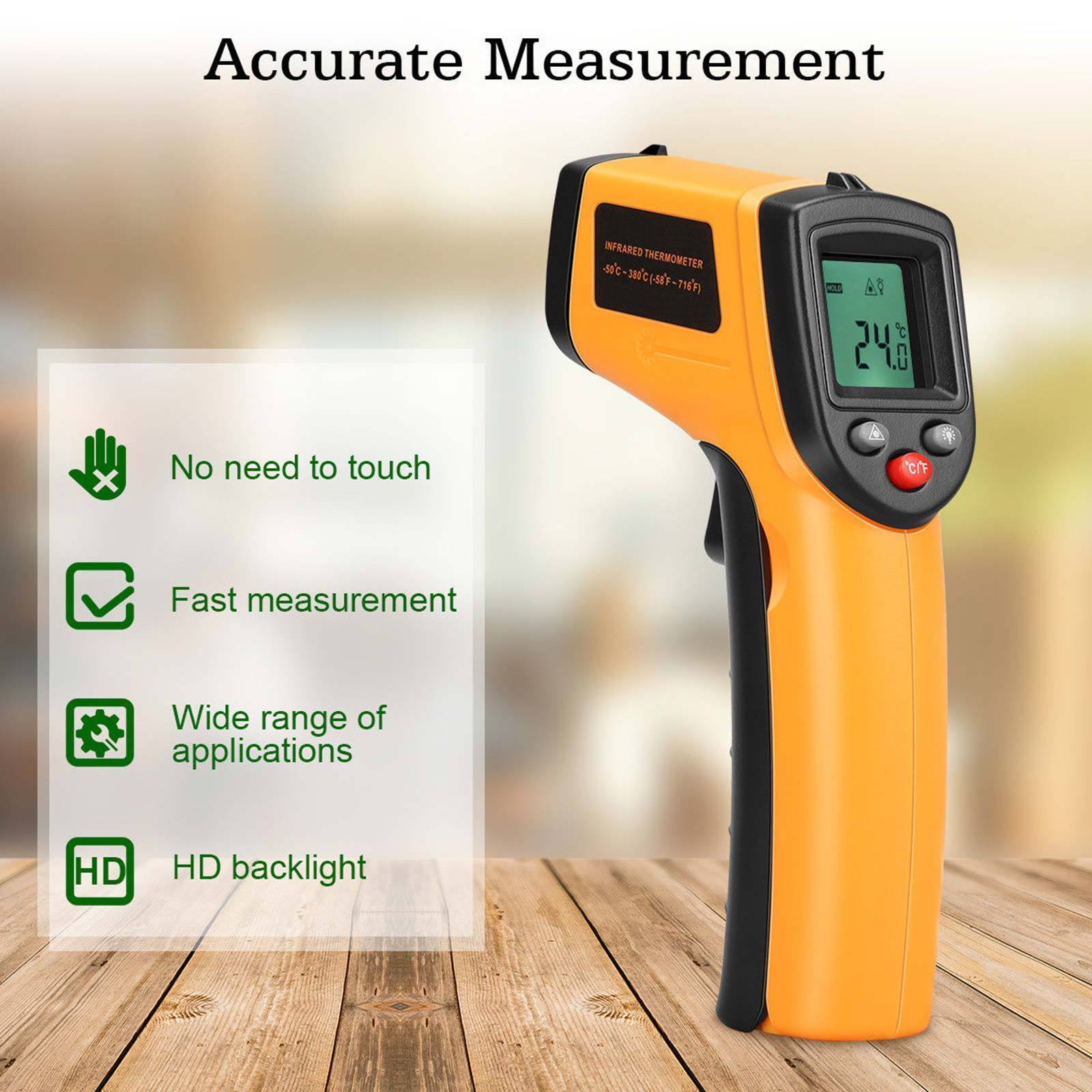 Infrared Digital Non-Contact Surface Measure Temperature The