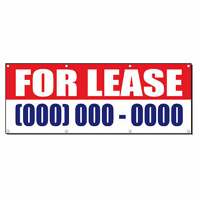 For Lease Custom Phone Number Promotion Sign Banner 2 X 4 W 4 Grommets