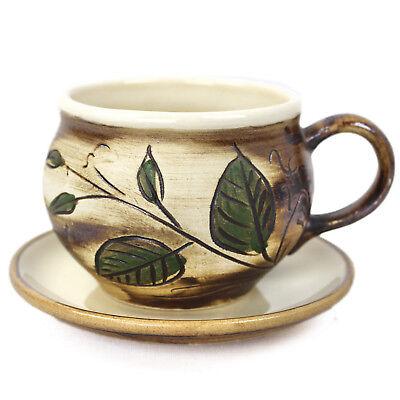 eetasse Tee Kaffee Cappuccino Suppentasse Keramik handbemalt (Bemalte Tasse Tee)