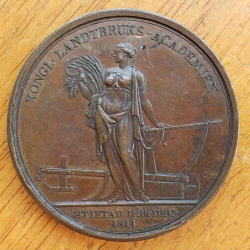 1811 Sweden Medal Royal Swedish Academy Agriculture Forestry Svensk Sverige