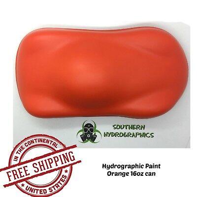 Hydrographic Film Hydro Dip Kit Paint Base Coat 16oz Aerosol Orange