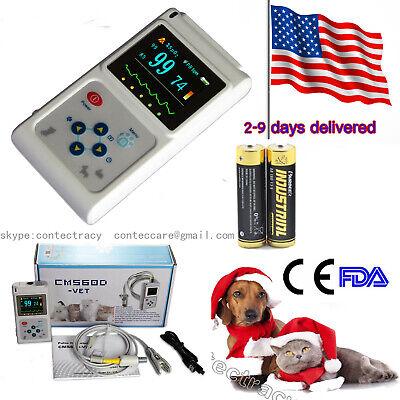 Handheld Veterinary Pulse Oximeter With Vet Tongue Spo2 Probepc Softwareusa