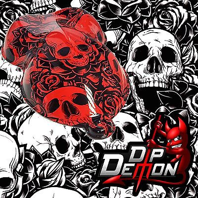 Skull And Roses Skulls Demon Hydrographic Water Transfer Film Hydro Dip Dipping