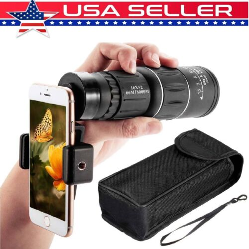 16X52 Dual Focus Optical Day/Night Vision HD Monocular Teles