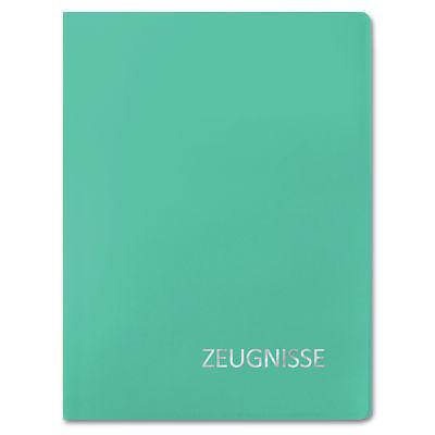 Zeugnismappe A4 türkis mit Silberprägung 22,5 x 31 cm (Roth Edition; #Zeugnis...