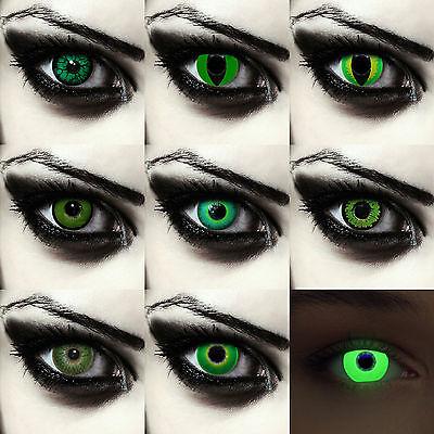 r elf costume contacts creepy goblin for Halloween costume (Green Monster Halloween Kontaktlinsen)