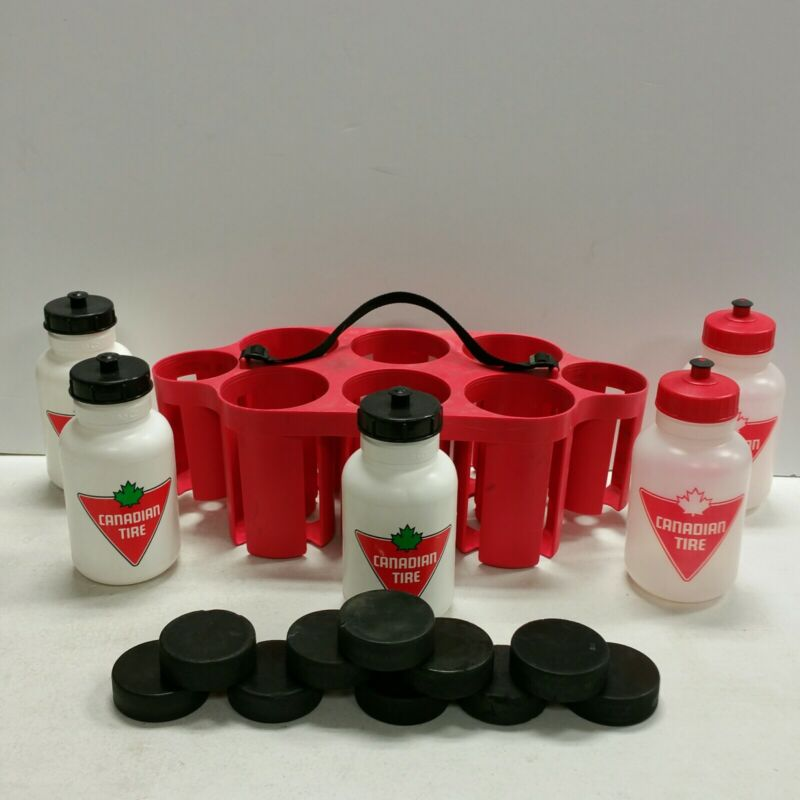 Linwood Hockey Game Professional Water Bottle & Puck Carrier - Red/Canadian Tire