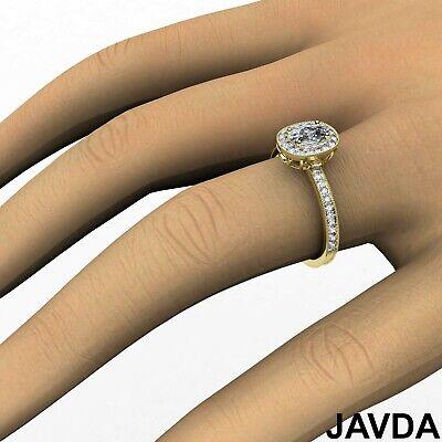 Milgrain Halo Pave Bezel Set Cushion Shape Diamond Engagement Ring GIA H VS1 1Ct 11