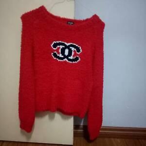 Trendy designer Blackpink red teddy sweater