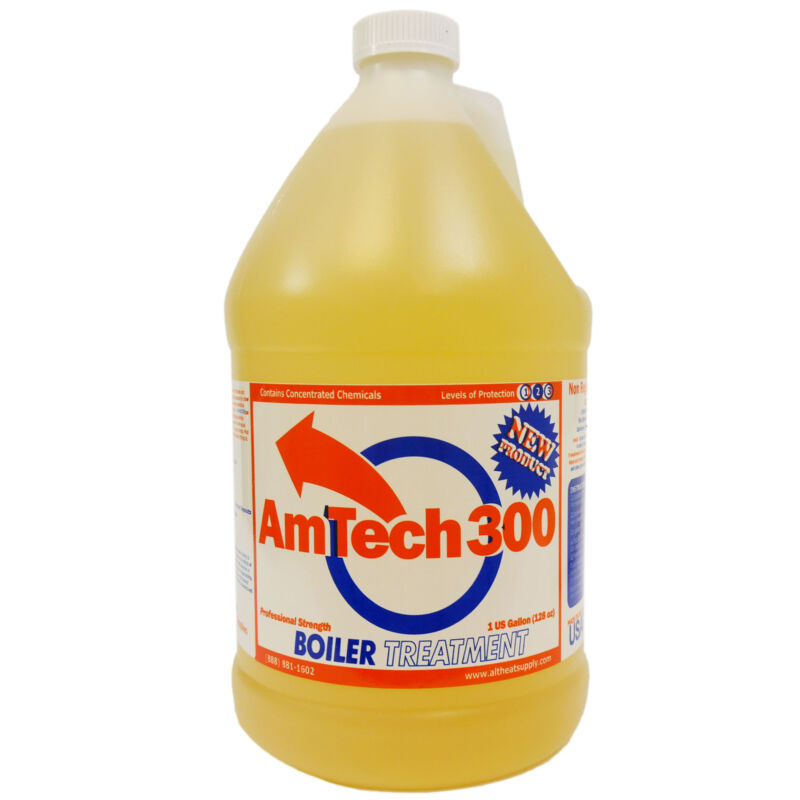 Amtech 300 Outdoor Wood Boiler Water Treatment, Corrosion Inhibitor, 1 Gallon