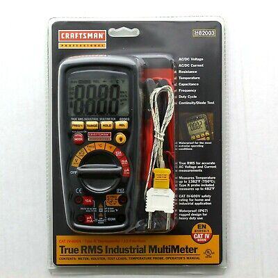 Craftsman Pro True Rms Industrial Multimeter En 31010-1 Cat Iv 600v 34-82003