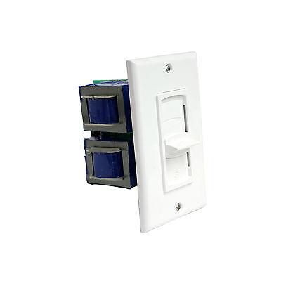 PVC300S 200 Watts Stereo IN WALL Speaker Volume Control, 10-Step Slider, White