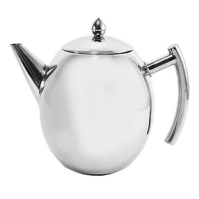 SQ Professional Oval Tea Coffee Pot Stainless Steel, 1000ml