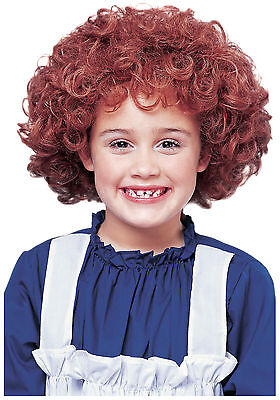 CHILD LITTLE ORPHAN ANNIE NATURAL RED AUBURN CURLY AFRO KIDS GIRLS COSTUME WIG - Child Wigs
