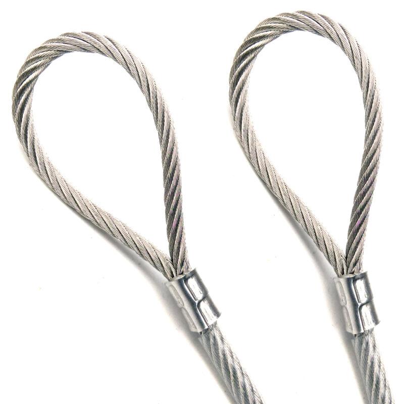 "75ft - 300ft Galvanized Steel 3/16"" - 1/4"" VINYL COATED Metal Wire Rope 7x19"