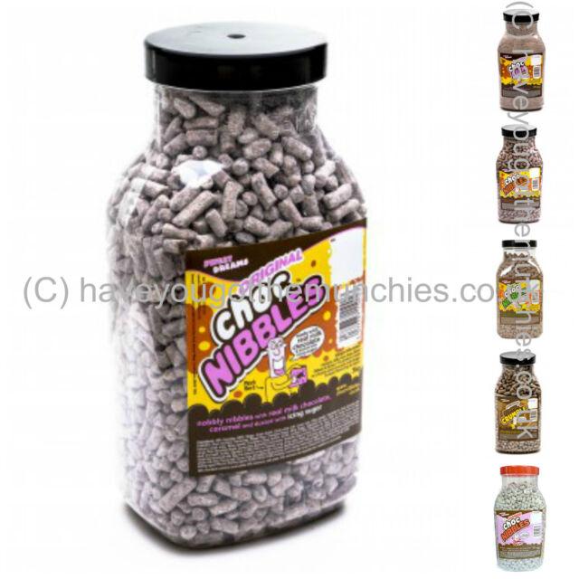 * Choc Lick Nibbles, Mint, Orange Toffee Crumble WHOLESALE Sweets 3KG JAR RETRO