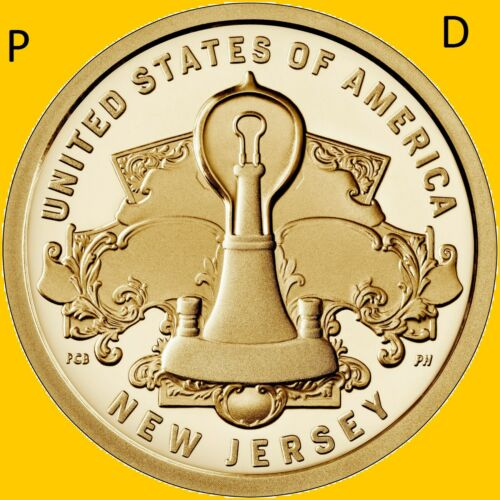 2019 P&D SET American Innovation NEW JERSEY 2 UNCIRCULATED DOLLARS * PRESALE *