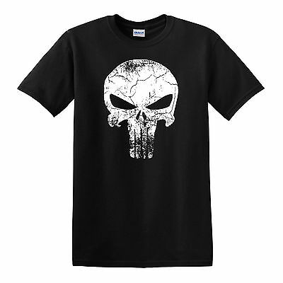 PUNISHER SKULL T-shirt - SM to 6XL - Netflix Marvel (Punisher Shirt)